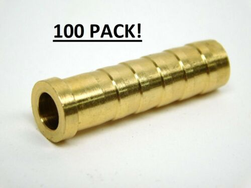 100 Arrow 110 gr brass Inserts for carbon Arrows Horton Ten Point easton .300 ID