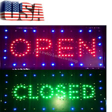 USA 2in1 Open&Closed Bright LED Sign Store Shop Business Display Neon 26*52*2cm