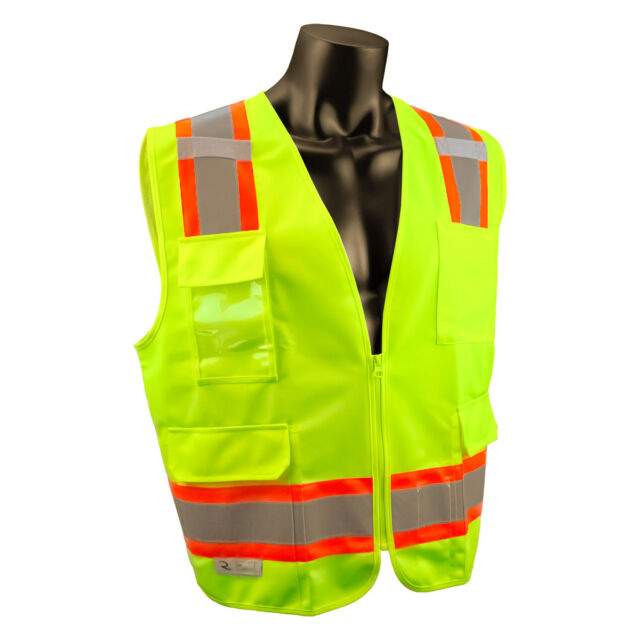 a54aa78a914 Radians SV6G Two Tone Surveyor Class 2 Safety Vest HiViz Lime 5xl ...