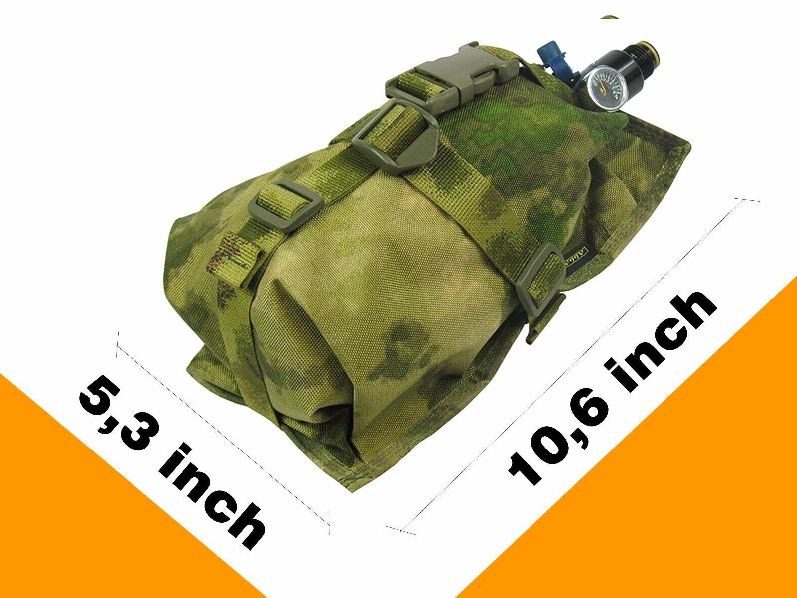 Pouch Case molle pals MULTICAM Ninja Air Tank atacs fg PAINTBALL bag waterproof