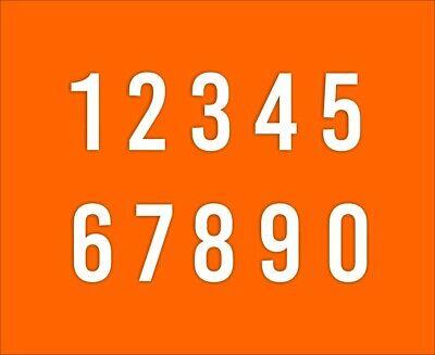 Aufkleber Selbstklebende Zahlen Startnummern Tür Boot Hausnummer Tonne FOIL0103