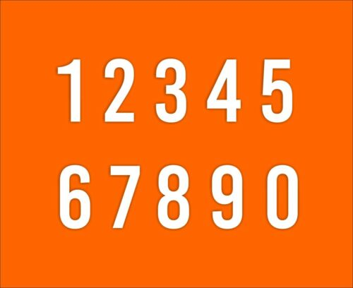 Pegatinas autoadhesivas cifras los números de inicio puerta casa flotante número tonelada foil 0103
