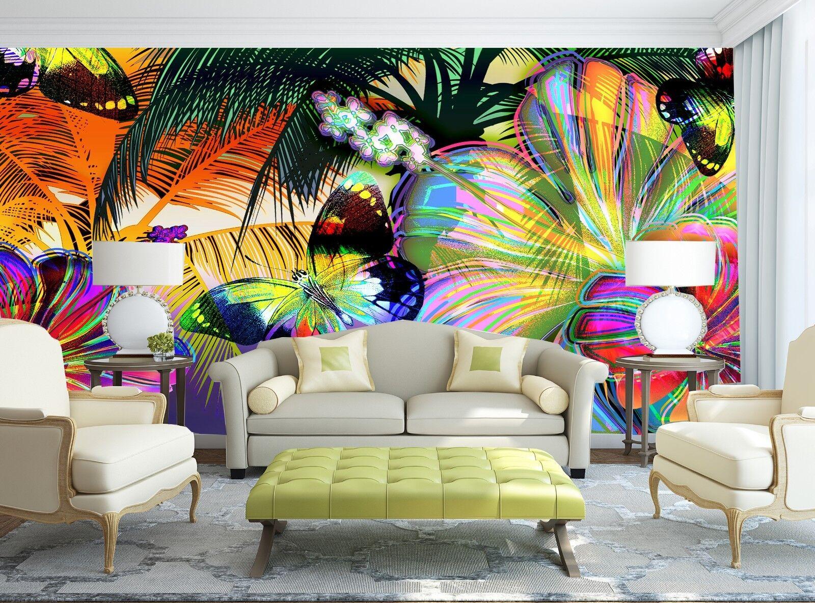 Farbeful Butterflies  Wall Mural Photo Wallpaper GIANT WALL DECOR Paper Poster