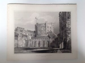 The-Keep-of-Durham-Castle-Vintage-Print