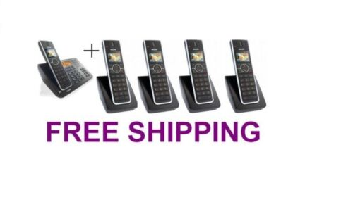 Philips SE6591B 2 Line DECT 6.0 Phone System w 5 Handsets Intercom Paging Xfer