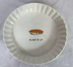 Rae-Dunn-Thankful-for-Pie-fluted-dish-plate-Pumpkin-Pie-Thanksgiving-New-2017