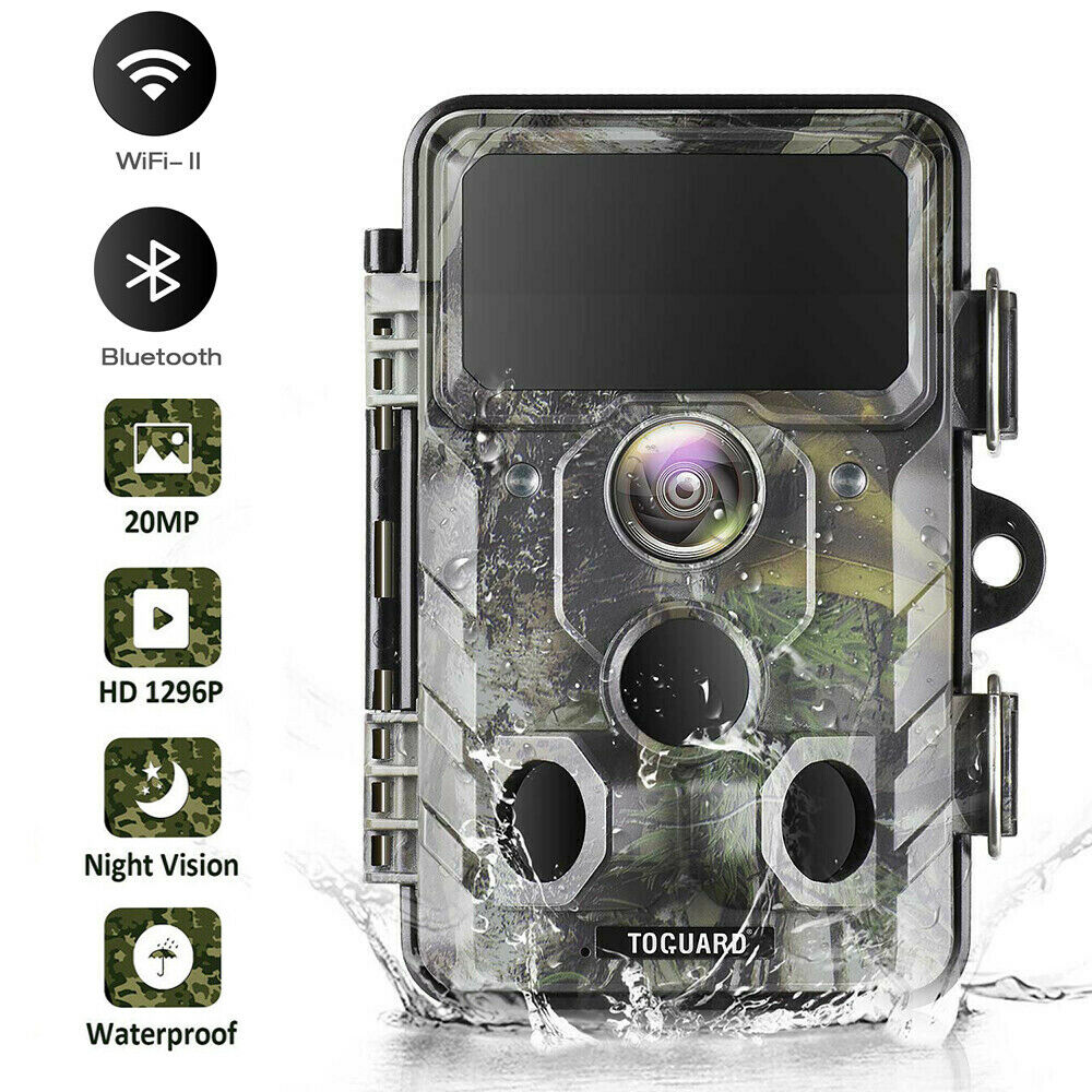 Bluetooth Wildkamera WiFi Jagdkamera 20MP 1296P IR Nachtsicht überwachungskamera