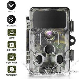 Bluetooth-Wildkamera-WiFi-Jagdkamera-20MP-1296P-IR-Nachtsicht-ueberwachungskamera