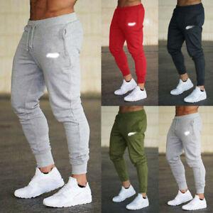 Mens Sport Pants Long Trousers Tracksuit Workout Joggers Gym Fitness Sweatpants