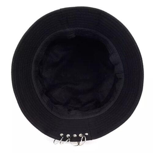 1PC Unisex Bucket Hat Pin Rings Sunhat Caps Summer Hat