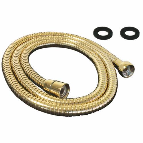 Flexibler Brauseschlauch Dusche Schlauch 125-200 cm Gold Metall Sanlingo