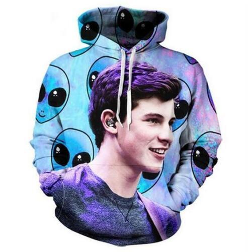 Fashion Women Men 3D Print Shawn Mendes Casual Hoodie Sweatshirt Pocket Pullover
