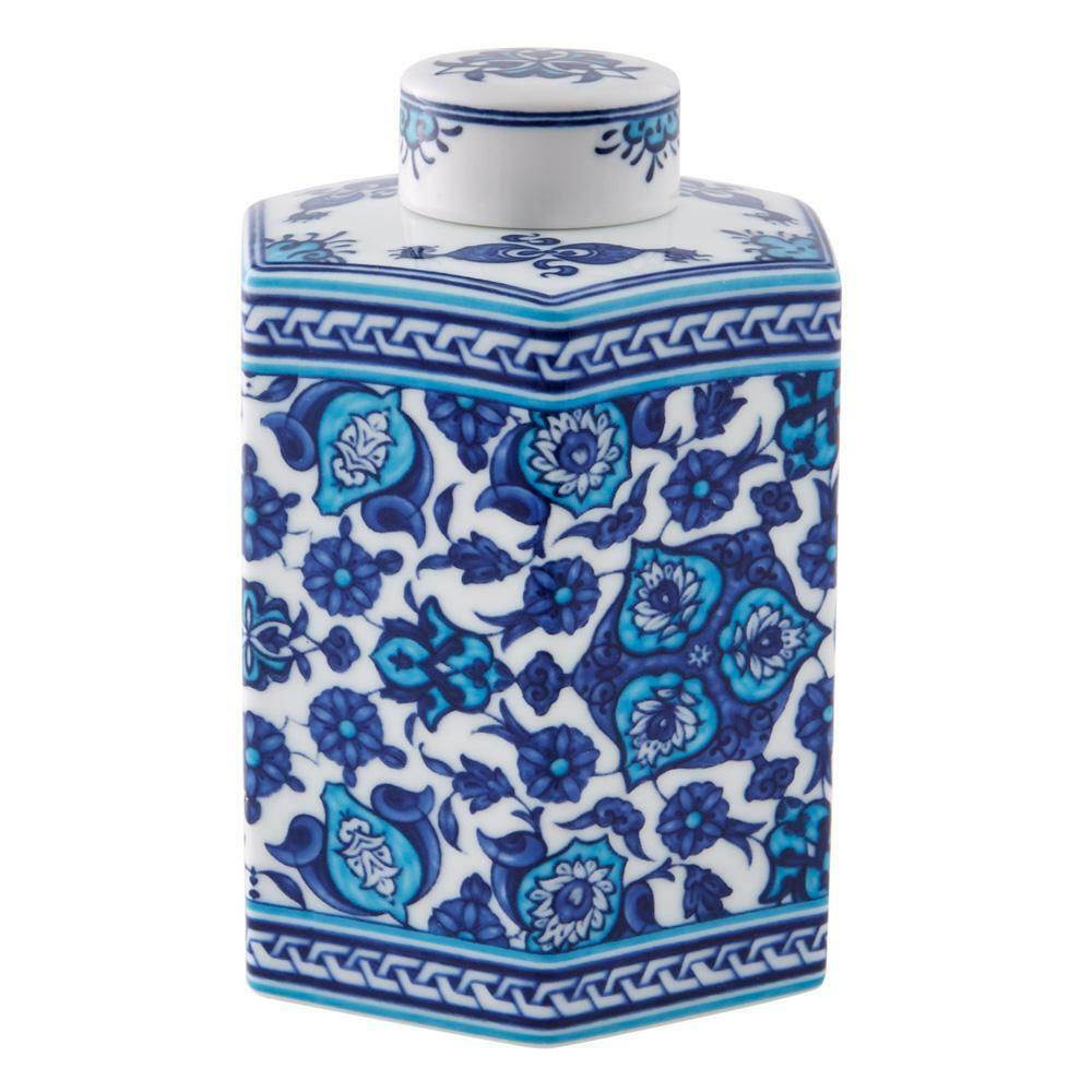 Vista Alegre Porcelain Izmir Hexagonal Flask