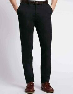 MEN-039-S-MARKS-amp-SPENCER-ACTIVE-WAIST-CHINO-TROUSERS-SIZE-30-034-to-40-034-CASUAL-PANTS