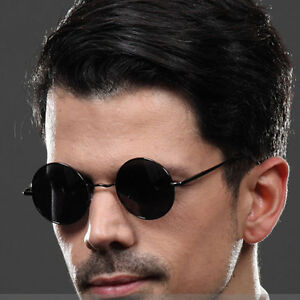 c00cce6f31d Details about New Fashion Men s Hippie Retro Polarized Sunglasses Round  Vintage Mirror Glasses
