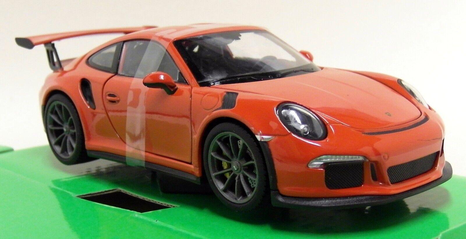 NEX 1 24 - 27 Scale - 2016 Porsche 911 GT3 RS orange - Diecast model car