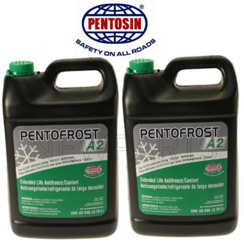 2 Gallons Pack Pentosin Pentofrost A2 Green Engine Coolant Antifreeze Fluid Set