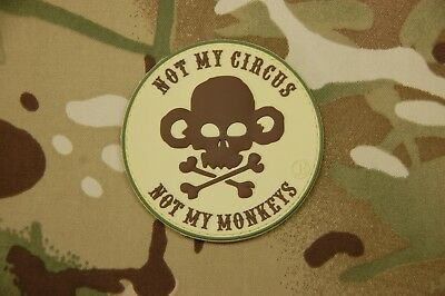 3D PVC Not My Circus Not My Monkeys Operator As F**K Multicam Morale Patch
