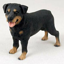 ROTTWEILER DOG Figurine Statue Hand Painted Resin