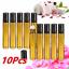 10PC-5-10ML-Amber-Roll-On-Glass-Bottle-Essential-Oil-Perfume-Plastic-Roller-Ball miniature 1