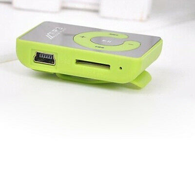 7 Colors Mini Mirror Clip USB Digital Mp3 Music Player Support 8GB SD TF Card