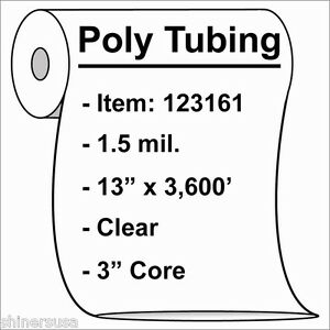 1000 1.5-Mil 10x24 Clear Poly Bag Open Top Lay Flat Packaging 121368