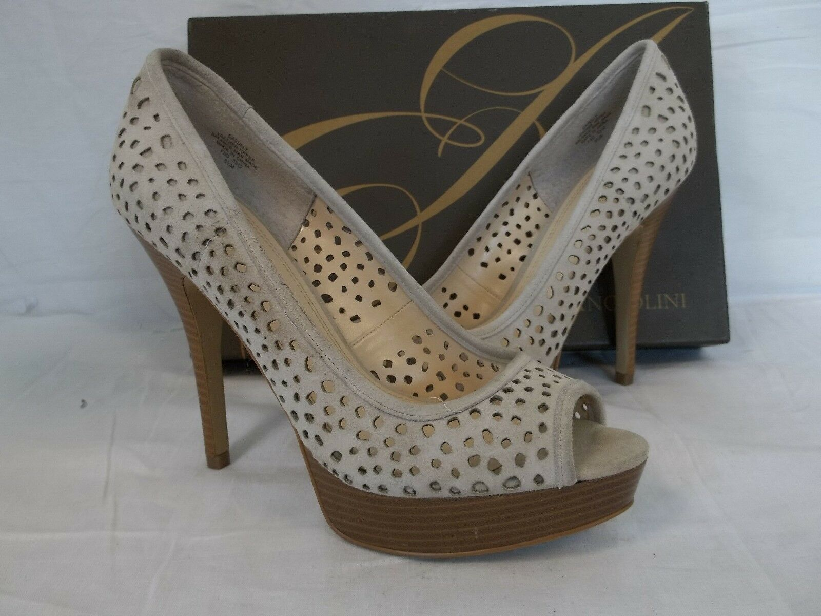 Enzo Angiolini Größe 11 M Sully Natural Suede Heels New Damenschuhe Schuhes