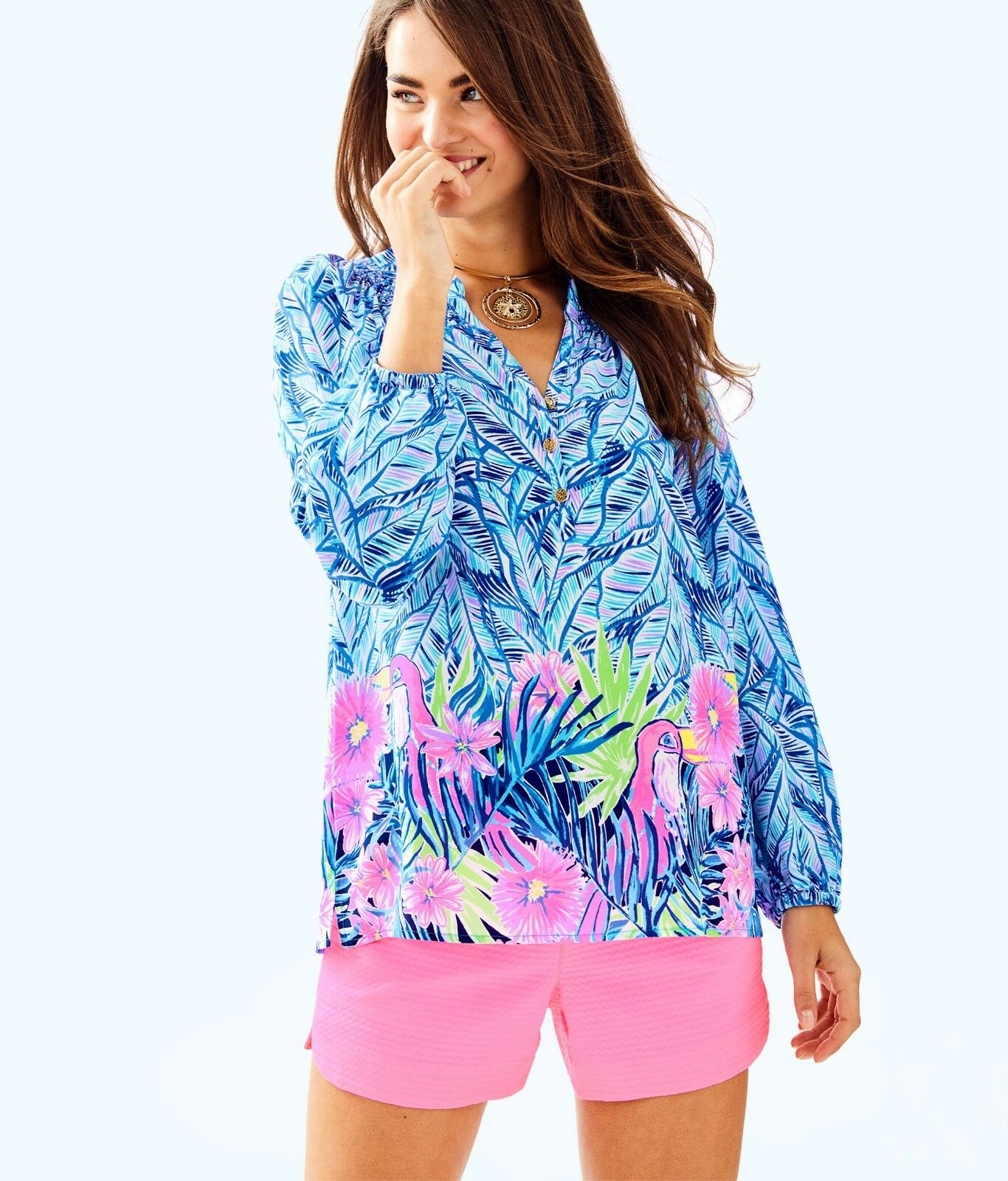 Lilly Pulitzer Elsa silk top,  168, Let& 039;s Mango Engineerot, adorable  XS, S