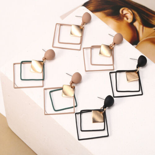 Trendy Statement Acrylic Geometric Women Boho Dangle Earrings Modern Jewelry NEW
