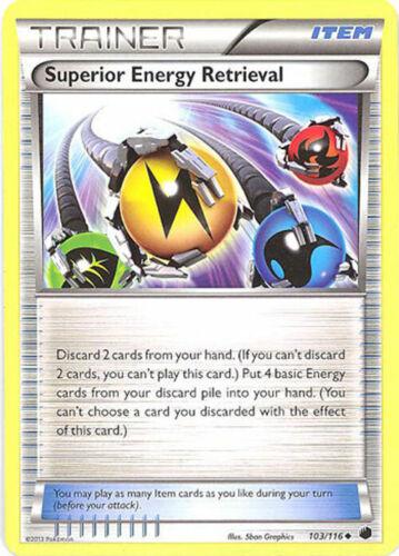 Carta Pokemon X 3-Plasma Freeze 103//116 Energia Superior Ret. Uncommon Quase perfeito//m