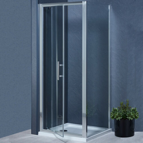 Pivot Door Shower Enclosure And Tray Cubicle Side Panel Walk In 6mm Glass Screen