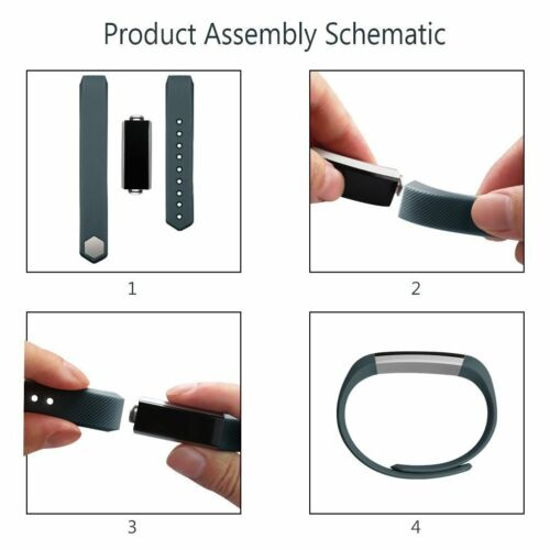 5 pack Fitbit Alta HR Fitbit Alta Replacement Bands with Metal Clasp