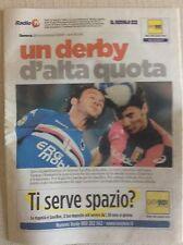 UC. SAMPDORIA VS. GENOA DERBY CALCIO GENOVA DELLA LANTERNA INSERTO SPECIALE 2009