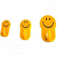 Smiley Face 15 Set Stick On Hooks Yellow Smile Happy Face