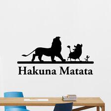 Hakuna Matata Wall Decal Lion King Cartoon Vinyl Sticker Nursery Decor Art 63hor