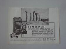 advertising Pubblicità 1937 ZEISS IKON IKONTA 6X9