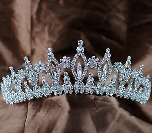 Image Is Loading Sparkling Vintage Wedding Bridal Tiaras Rhinestones Crystal Crowns