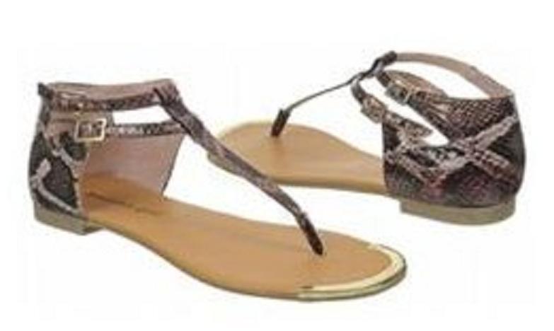 Madden Girl Suurge thong sandal snake print sz 6 Md NEW