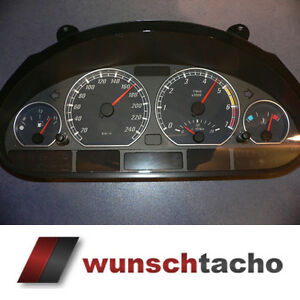 Tachoscheibe-fuer-Tacho-BMW-E46-Benziner-Elegance-250-kmh