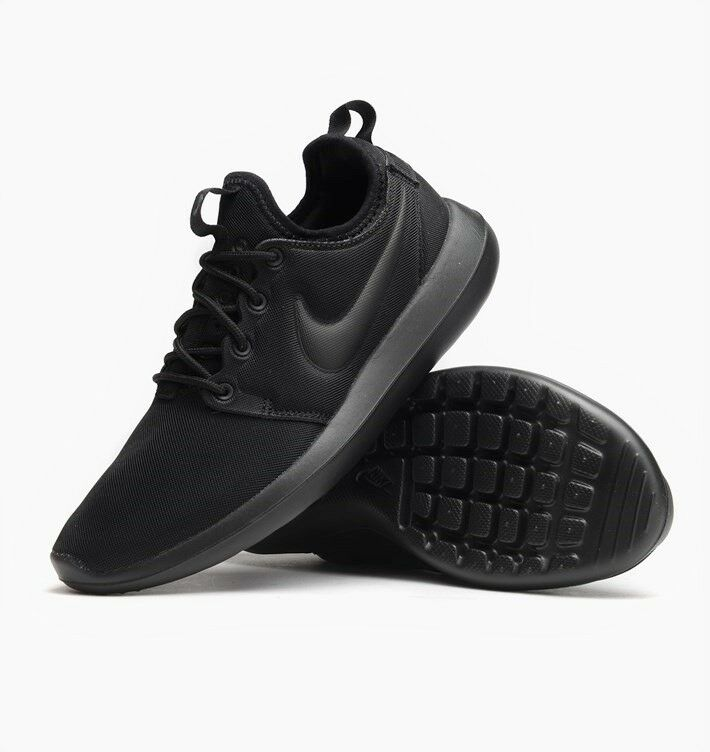 NIKE ROSCHE TWO 2 WOMENS TRAINERS BLACK UK SIZE 3 - 6.5