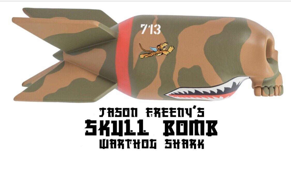 Bomba de cráneo de jabalí Tiburón X Jason Freeny X Mighty Jaxx