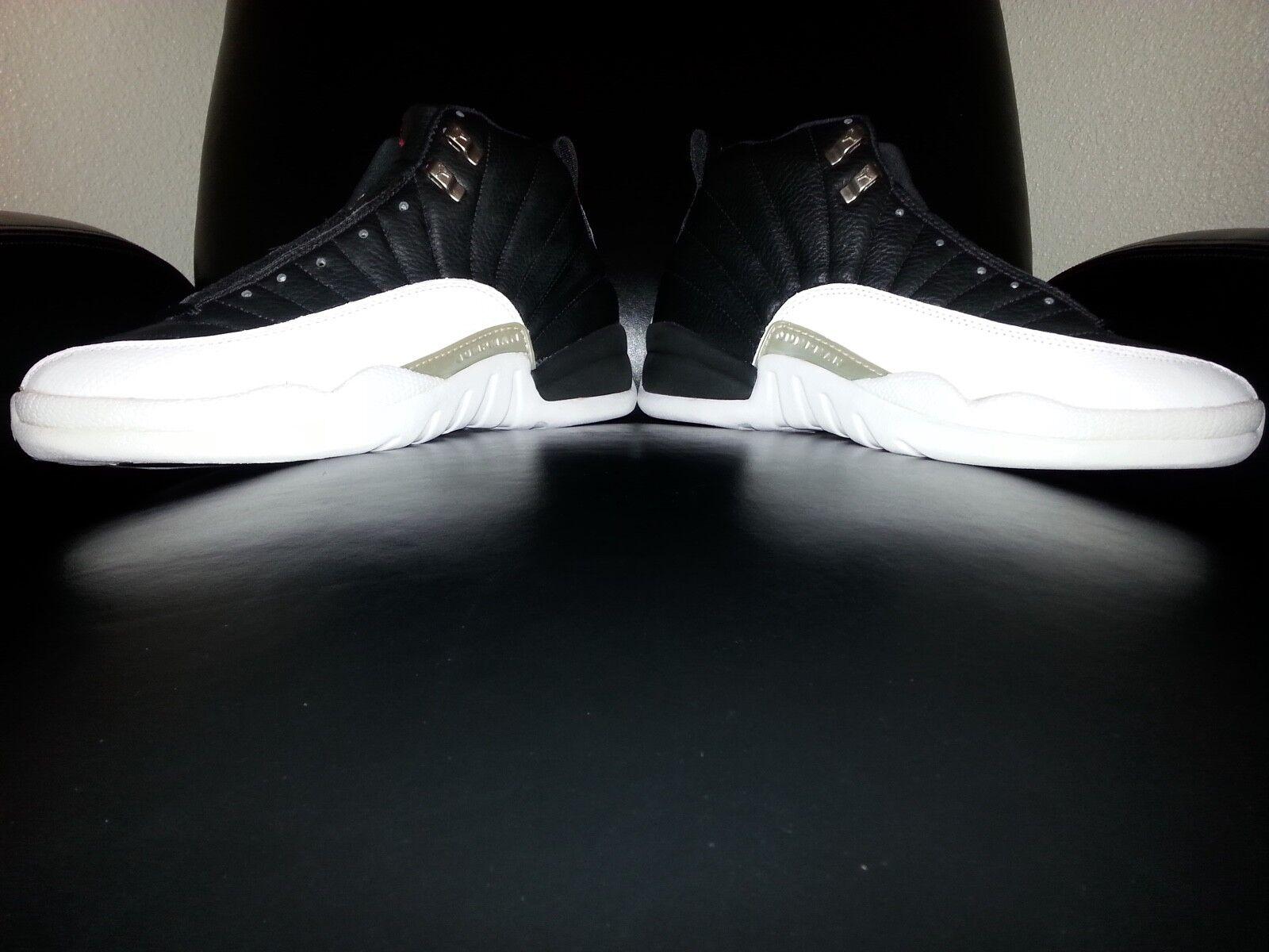 Nike Air Jordan XII 12 OG 1997 Playoff Blck Var Red Whte Met Slvr Size 10 (New )