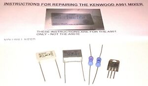 Kenwood-Chef-A901-Melangeur-Kit-Reparation-Condensateurs-resistances-Triac-amp-Instructions