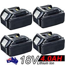 4x 18V 4.0AH Battery For Makita BL1840 BL1830 BL1815 LXT Lithium Ion Cordless
