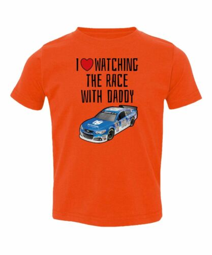 Nascar Dale Earnhardt Jr Love Race With Daddy Kids Toddler T-Shirt