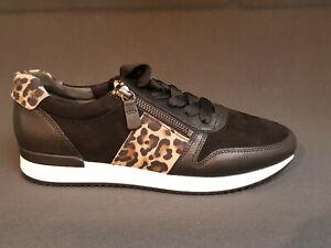 new arrival aabc8 3ef4e Details zu NEU Gabor fashion Schuhe Sneakers schwarz Leo Leder HW 2019