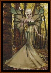 WOODLAND-FAIRY-cross-stitch-pattern-PDF-point-de-croix