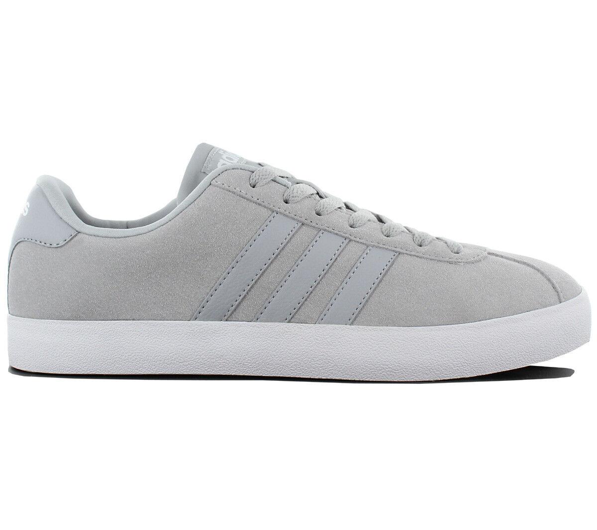 Adidas VL Sneaker Court Vulc Schuhe Herren Sneaker VL Leder Grau Turnschuhe Freizeit W3926 67cd78