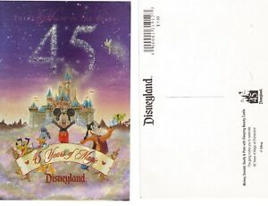 45-Years-of-Magic-Disneyland-Theme-Park-FOIL-Postcard