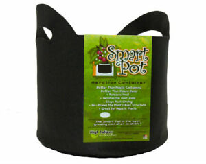 Smart-Pot-21007RT-Soft-Sided-Fabric-Container-with-Handles-Black-7-Gallon
